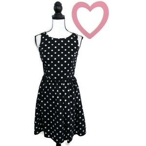 LC Lauren Conrad Black Polka Dot Fit and Flare 4